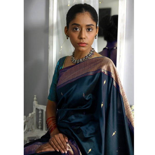 Nur Ecoloom Pure Silk Saree