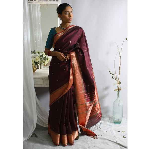 Gul Ecoloom Pure Silk Saree