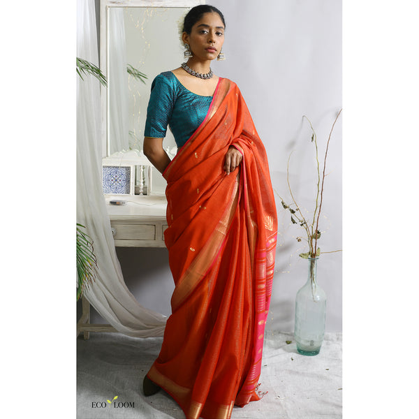 Asaveri Ecoloom Cotton Silk Saree