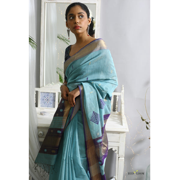 Kurinji Ecoloom Cotton Silk Saree