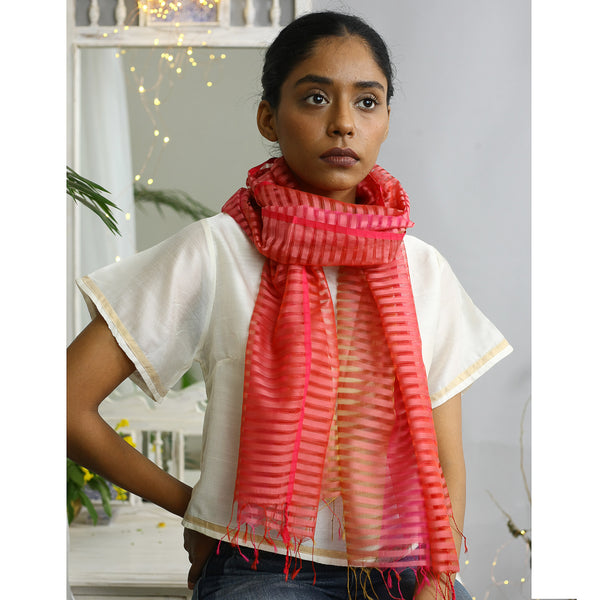 Rhubarb Ecolooom Silk Cotton Stole