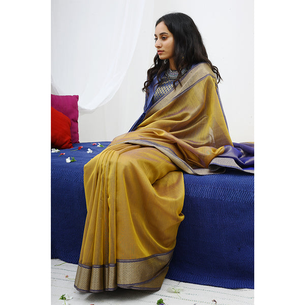 Honeydew Ecoloom Silk Cotton Saree
