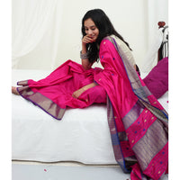 Ecoloom Orchid Silk Saree