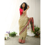 Hyacinth Ecoloom  Silk Cotton Saree