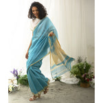 Aquatic Ecoloom Silk Cotton Saree
