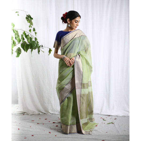 Taar Ecoloom Cotton Silk Saree
