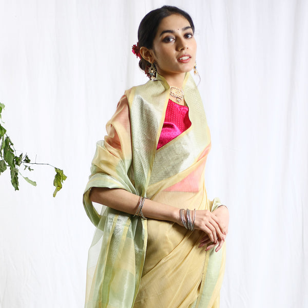Ganmurti Silk Cotton Ecoloom Saree