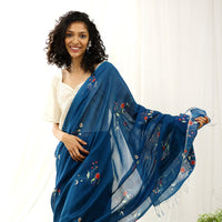 Starling Ecoloom Floral Printed Saree