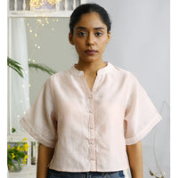 Dill Ecoloom Cotton Silk Crop Top