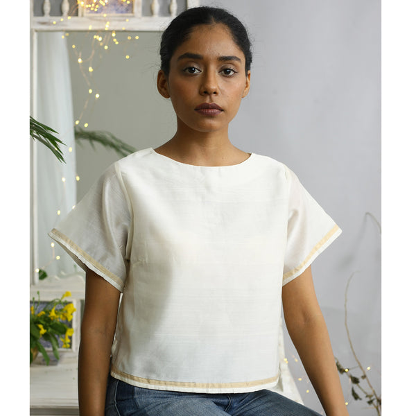 Juniper Ecoloom Cotton Silk Crop Top