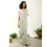 Nightingale Ecoloom Floral Printed Saree