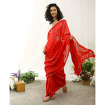 Puffin Ecoloom Floral Printed Saree