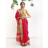 Poinsettia Ecoloom Silk Cotton Saree