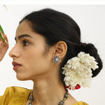 Surajmukhi Stud Earrings In Silver