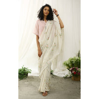 Rosefinch Ecoloom Floral Printed Saree