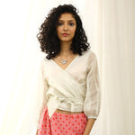 Burdock Ecoloom Cotton Silk  Silver Crop Top
