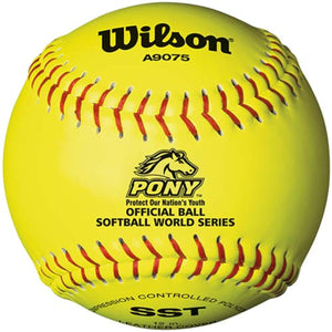 "Wilson A9075 12"" Pony League Softball - Buy & Go"