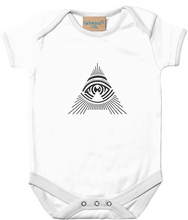 'all seeing a' babygrow onesie