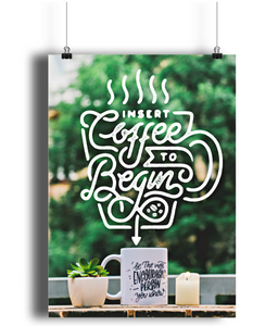 """insert coffee"" - portrait print"
