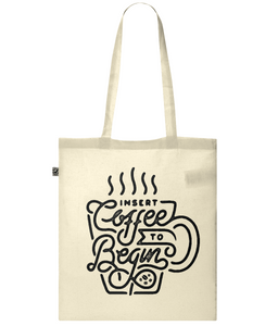"""insert coffee"" classic tote bag"