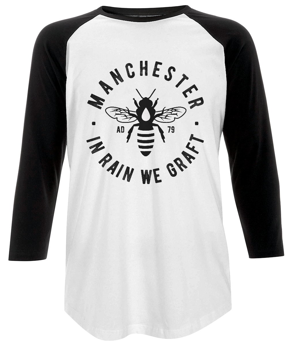 men's baseball t-shirt - manchester bee design