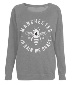 women's raglan sweatshirt - large bee design
