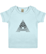 100% organic 'all seeing a' baby lap t-shirt