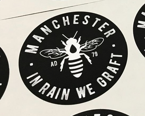manchester bee laptop stickers