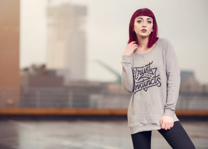 women's raglan sweatshirt - trust your instincts design