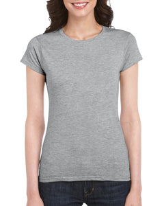women's cotton t-shirt - large angled graft logo