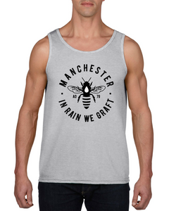 men's gym vest tank top - manchester bee
