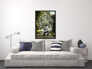 """four walls"" - motorcycle print"