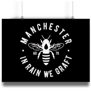 Manchester Bee - Landscape Print
