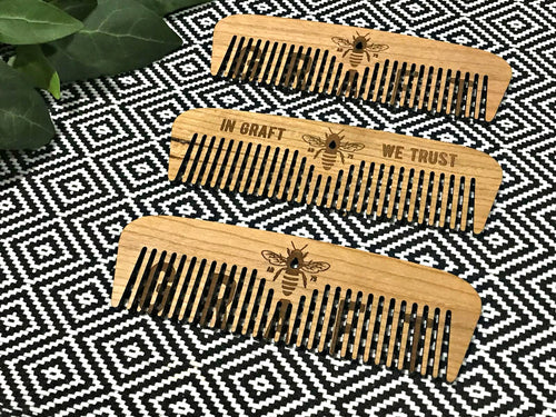 manchester bee large wooden comb