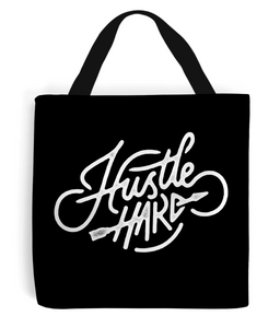 """hustle hard"" premium tote bag"