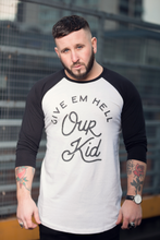 "men's baseball t-shirt - ""our kid"" large design"