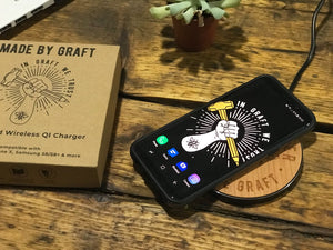 manchester bee qi wireless fast charge charging pad