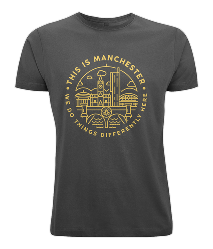 men's classic cut t-shirt - 'this is manchester'