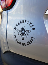 manchester bee black car bumber stickers