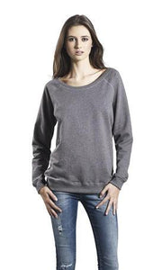 women's raglan sweatshirt - hustle hard design
