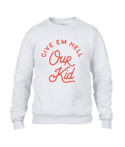 men's sweatshirt - our kid large design