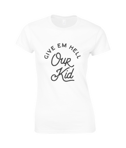 women's cotton t-shirt - our kid large design