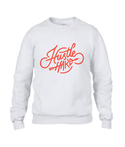 men's sweatshirt - hustle hard design