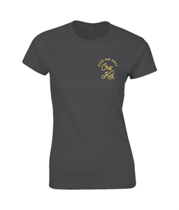 women's cotton t-shirt - our kid small design