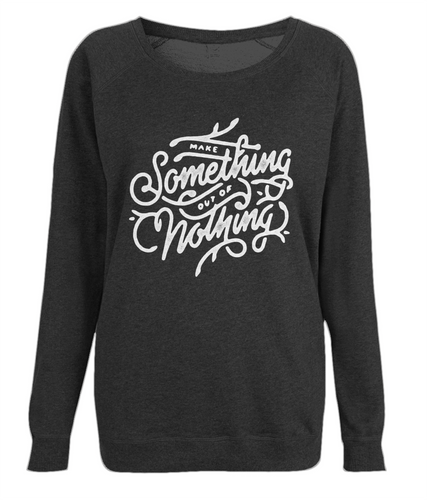 women's raglan sweatshirt - make something design