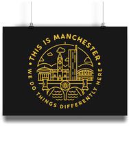 'this is manchester' - landscape print