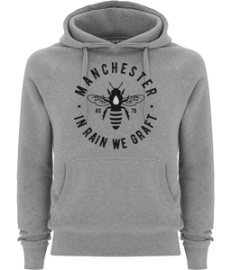 men's manchester bee pullover fairtrade hoodie