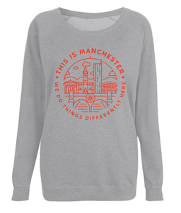 women's 'this is manchester' raglan sweatshirt
