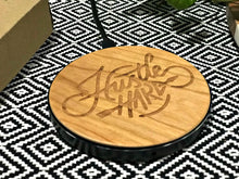 hustle hard qi wireless fast charge charging pad