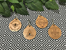 all seeing a wooden keyrings